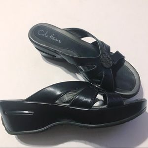 Cole Haan Nikepro black sandals